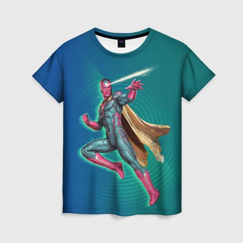 Женская футболка 3D Вижен