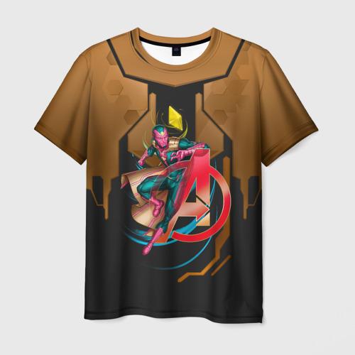 Мужская футболка 3D Вижен