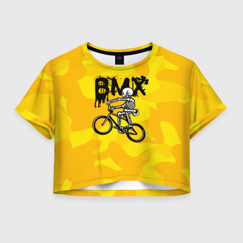 Женская футболка Crop-top 3D BMX