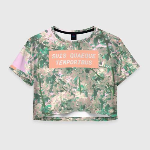 Женская футболка Crop-top 3D Всему свое время