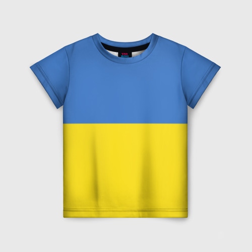 Детская футболка 3D Украина. Флаг.