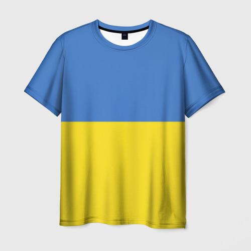 Мужская футболка 3D Украина. Флаг.