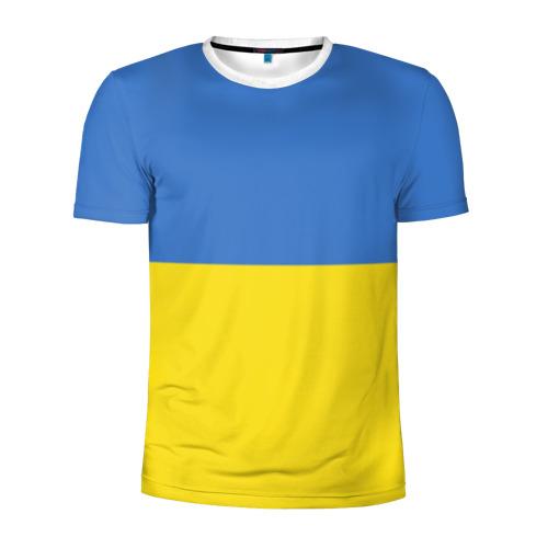 Мужская футболка 3D спортивная Украина. Флаг.