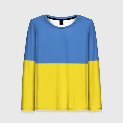 Женский лонгслив 3D Украина. Флаг.