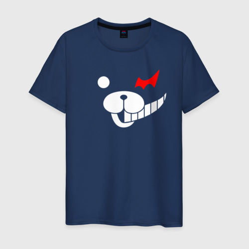 Мужская футболка хлопок Monokuma белые части лица