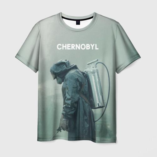 Мужская футболка 3D Чернобыль