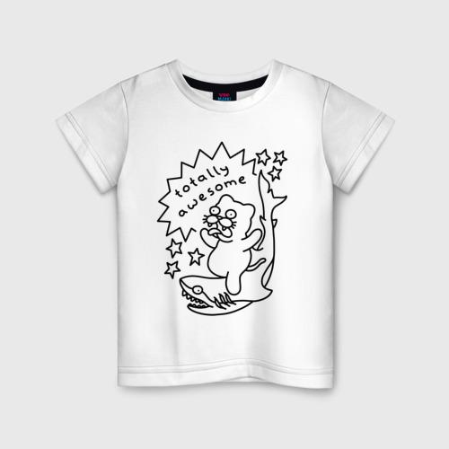 Детская футболка хлопок Awesome Shark