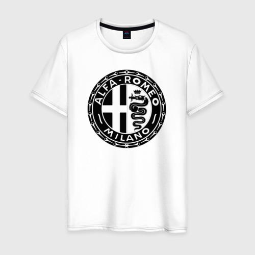 Мужская футболка хлопок alfa romeo