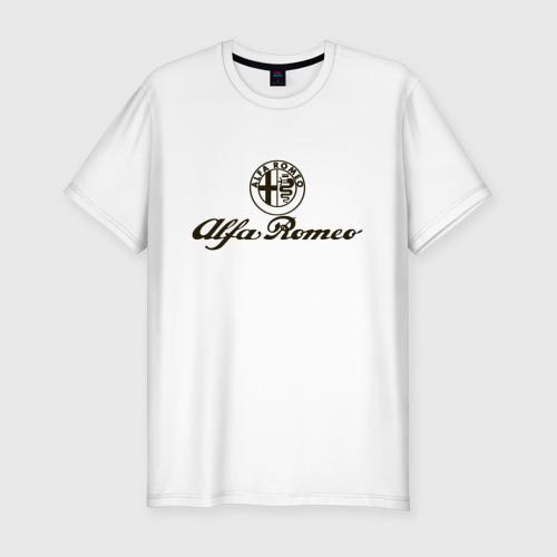 Мужская футболка хлопок Slim alfa romeo formula1