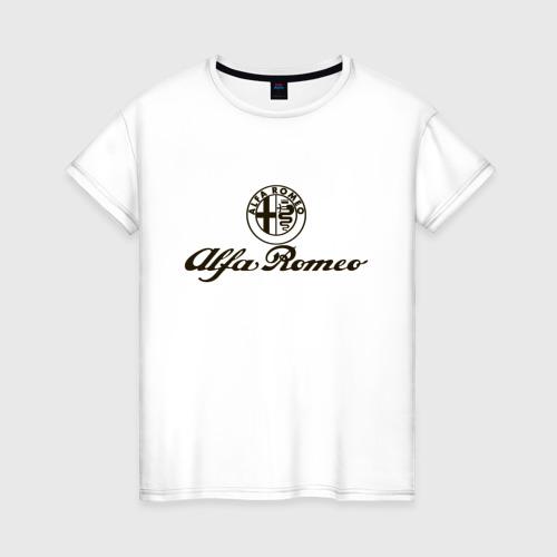 Женская футболка хлопок alfa romeo formula1