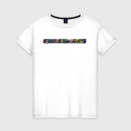 Женская футболка хлопок Guardians of the Galaxy