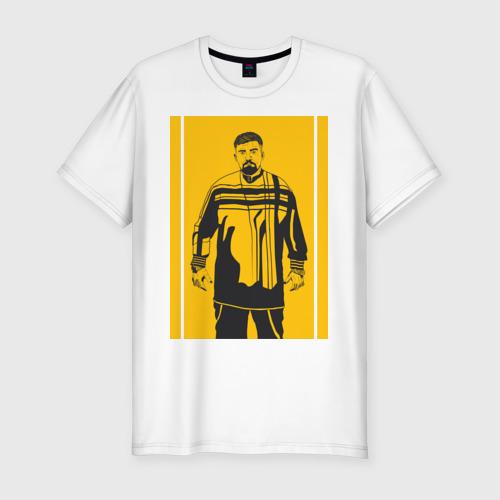 Мужская футболка хлопок Slim Баста