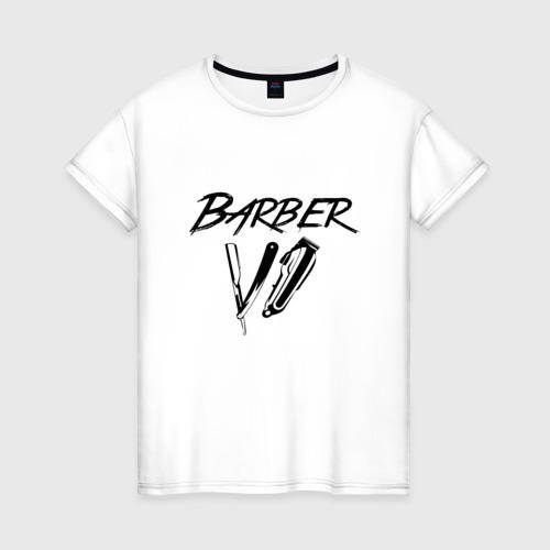 Женская футболка хлопок Barber Life