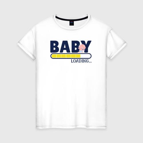 Женская футболка хлопок Беременность