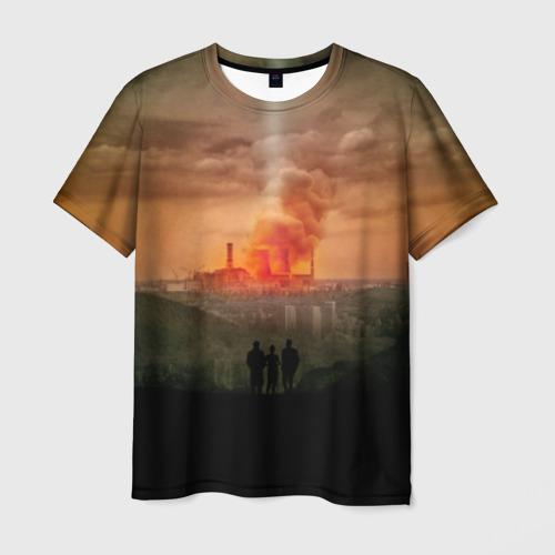 Мужская футболка 3D Чернобыль 9