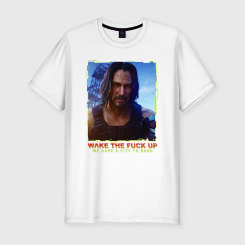 Мужская футболка хлопок Slim SAMURAI KEANU REEVES