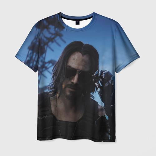 Мужская футболка 3D Кибер