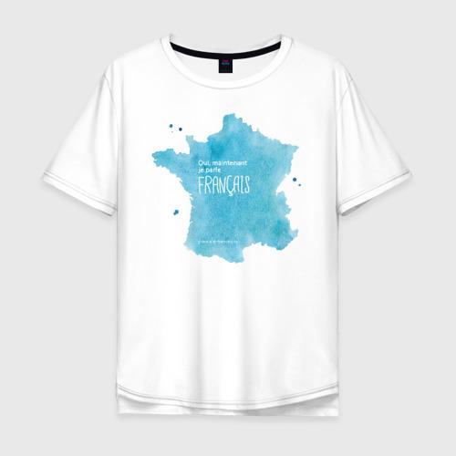 Мужская футболка хлопок Oversize Oui, je parle fran?ais grace ?