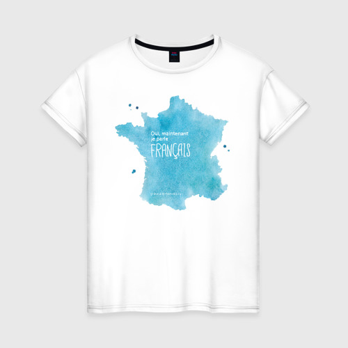 Женская футболка хлопок Oui, je parle fran?ais grace ?