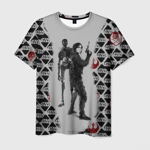 Мужская футболка 3D Jyn and K-2S0