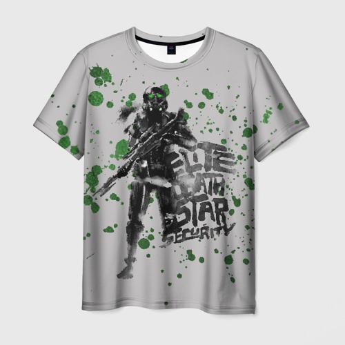 Мужская футболка 3D Death Star Security