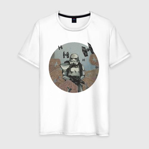 Мужская футболка хлопок Stormtrooper and TIE Fighter