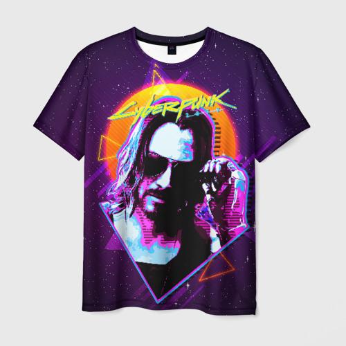 Мужская футболка 3D Киану Ривз Cyberpunk 2077