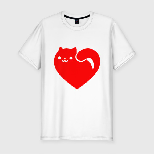 Мужская футболка хлопок Slim Love Cat