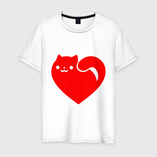 Мужская футболка хлопок Love Cat