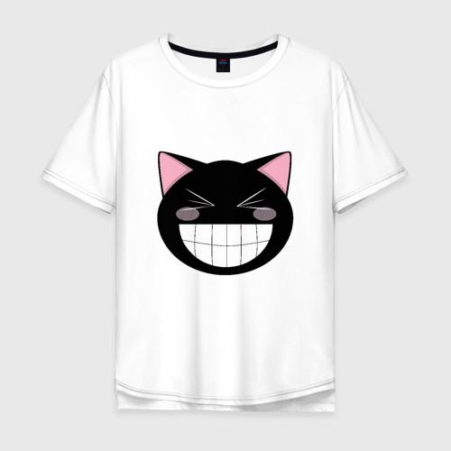 Мужская футболка хлопок Oversize Smiling Cat