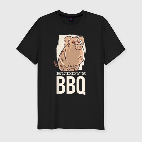 Мужская футболка хлопок Slim Злая Свинка
