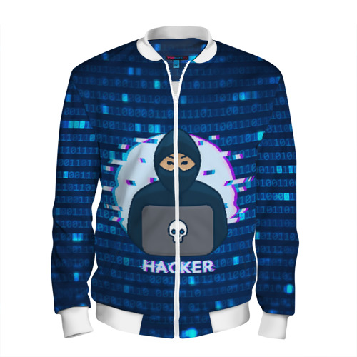 Мужской бомбер 3D Хакер