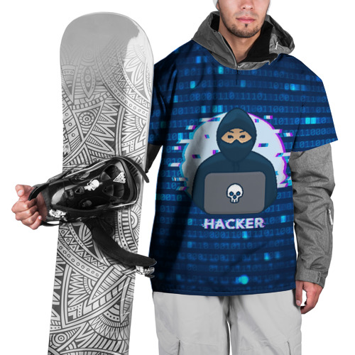 Накидка на куртку 3D Хакер