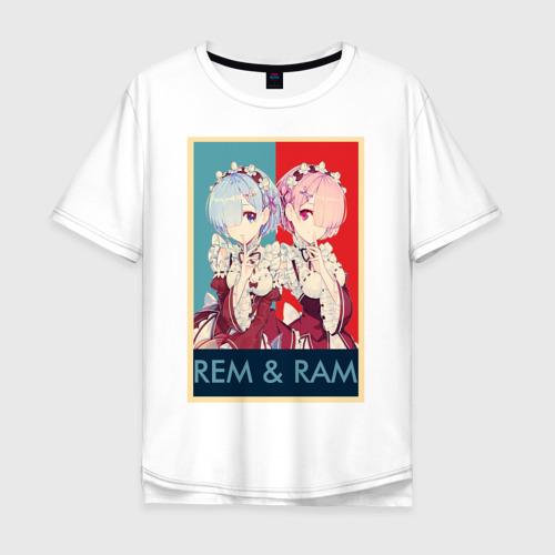 Мужская футболка хлопок Oversize Рем и Рам