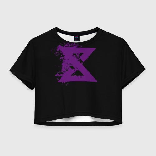 Женская футболка Crop-top 3D Ведьмак Знак
