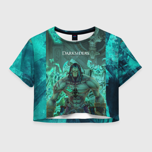 Женская футболка Crop-top 3D Darksiders 2