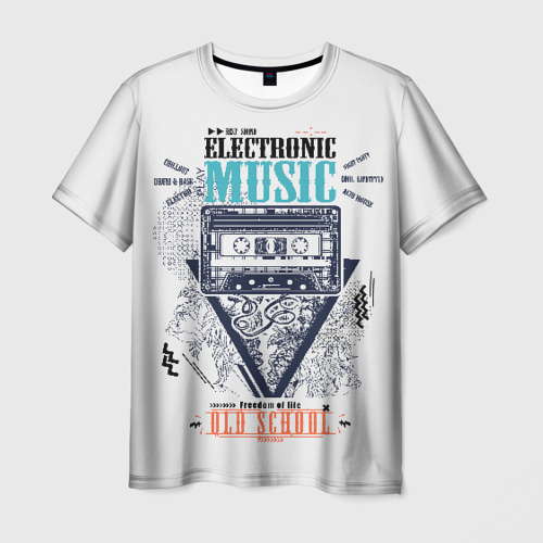 Мужская футболка 3D Electronic music