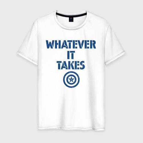 Мужская футболка хлопок Whatever it takes Cap