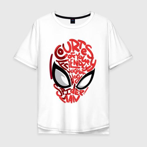 Мужская футболка хлопок Oversize Spider-Man