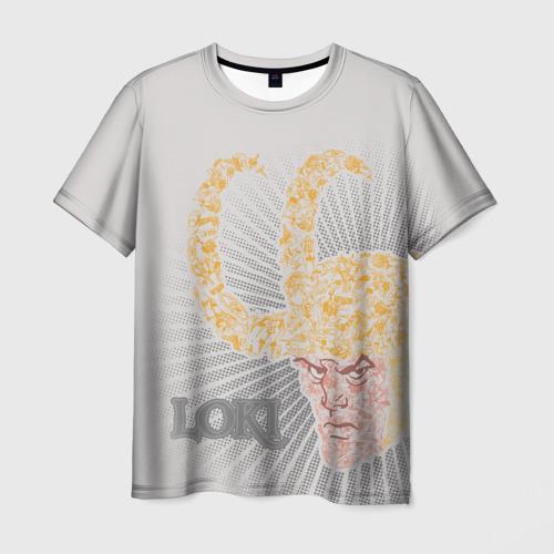 Мужская футболка 3D Loki retro