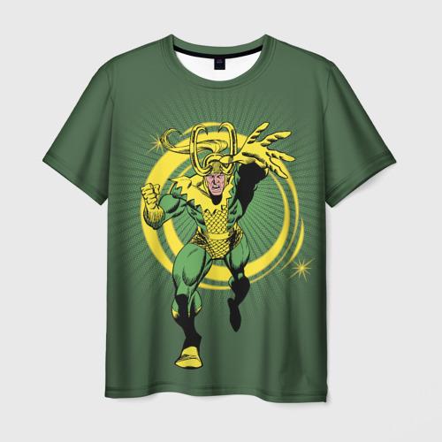 Мужская футболка 3D Loki magic