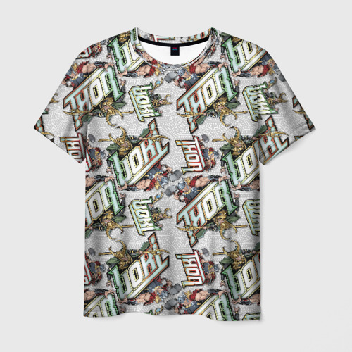 Мужская футболка 3D Loki vs Thor pattern