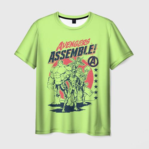 Мужская футболка 3D Avengers assemble