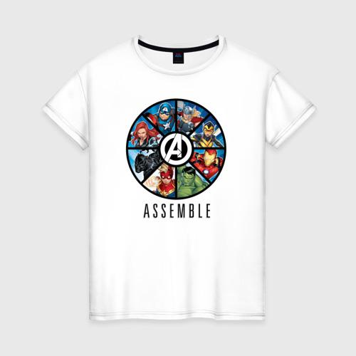 Женская футболка хлопок Avengers assemble