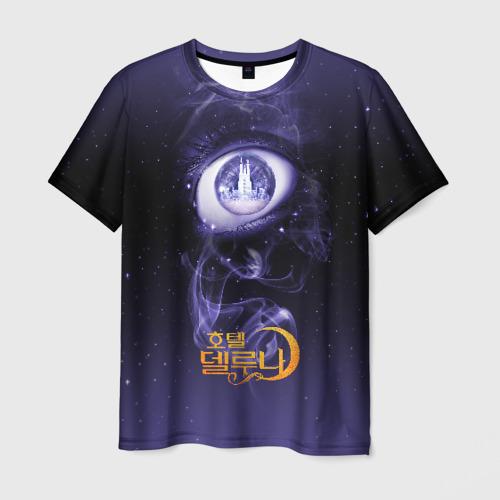 Мужская футболка 3D Глаз Отель Дель Луна