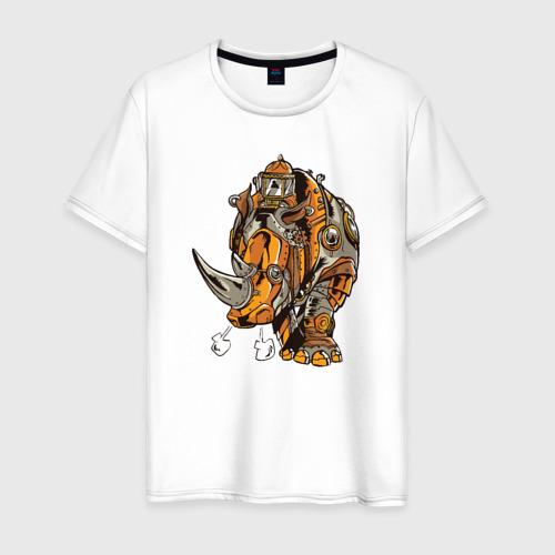 Мужская футболка хлопок Носорог Steampunk