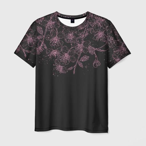 Мужская футболка 3D Весенняя ночь