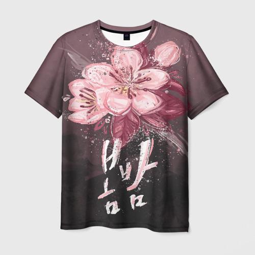 Мужская футболка 3D Spring Night