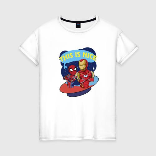 Женская футболка хлопок This is nice