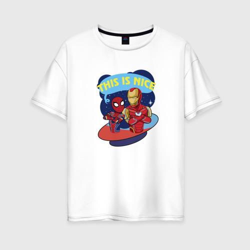Женская футболка хлопок Oversize This is nice